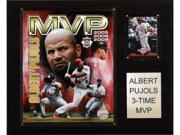 C & I Collectables 1215pujolmvp Mlb Albert Pujols 3 Time Mvp St. Louis Cardinals Player Plaque