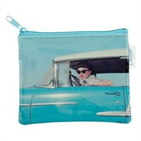 Blue Car Girl Zip Purse  By Catseye