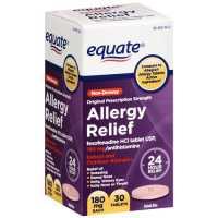 Equate Indoor And Outdoor Allergies Fexofenadine Hcl Antihistamine