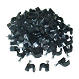 Cable-Clip Black RG6 (100 pieces per bag)