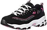 Skechers Sport D'Lites-Me Times Women's Sneaker 8 B(M) US Black-Hot Pink