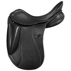 PDS Showtime Covered-Leather Dressage Saddle L17.5 Standard Black