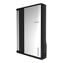 "Ergotron Zip Tablet Computer Cabinet - Up To 12"" Screen Support - 44.40 Lb Load Capacity - 35.6"" Height X 26.4"" Width X 5.9"" Depth - Wall Mountable - Steel - Black, Silver Dm12-1006-1"