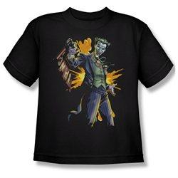 Youth(8-12yrs) BATMAN Short Sleeve JOKER BANG Small T-Shirt Tee