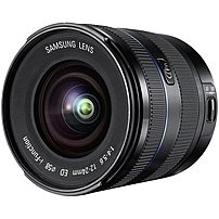 Samsung Ex-w1224anb/us Nx 12-24mm F/4.0-5.6 Camera Lens - Ultra Wide Angle Zoom Lens For Samsung Nx - 58 Mm Attachment - 0.14x Magnification - 2x Optical Zoom - 2.5-inch Diameter - Black