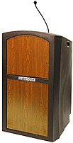 Amplivox St3250-mh Pinnacle Sound Ready Full Height Lectern - Mahogany