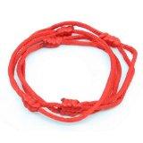 3 Red Hand Made Lucky String Kabbalah Bangle Bracelets success luck Bracelet