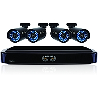 Night Owl 4 Channel Smart Hd Video Security System With 1 Tb Hdd And 4 X 720p Hd Cameras - Digital Video Recorder, Camera - 1 Tb Hard Drive - 15 Fps - 720 - Composite Video In - Composite Video Out - 4 Audio In - 1 Audio Out - 1 Vga Out - Hdmi B-a720-41-4