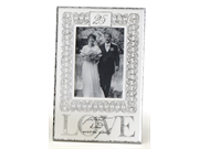 Pack Of 2 Wedding & Anniversary 25 Silver Years Romance Vertical Frames