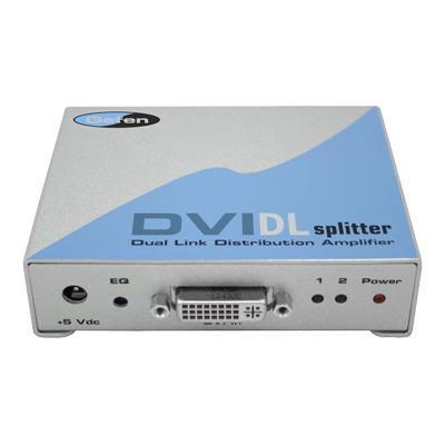1x2 DVI DL Splitter - video splitter - 2 ports - desktop