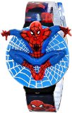 Marvel Comics Kids' SPM125 Spiderman Watch with Patterned Plastic Band