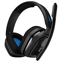 Astro A10 Headset - Stereo - Blue, Gray - Mini-phone - Wired - 32 Ohm - 20 Hz - 20 Khz - Over-the-ear, Over-the-head - Binaural - Circumaural 939-001509