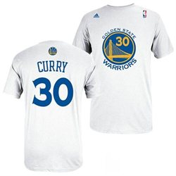 Golden State Warriors Stephen Curry Name & Number T-Shirt M