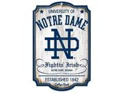 Caseys Distributing 3208574445 Notre Dame Fighting Irish Wood Sign- College Vault