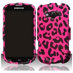 BasAcc For Samsung Galaxy Reverb M950 (Sprint/Virgin) Rubberized Design Case Cover - Pink Leopard