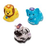 Vtech Baby Toot-Toot Animals 3 Pack - Elephant, Lion & Zebra (Dispatched From UK)