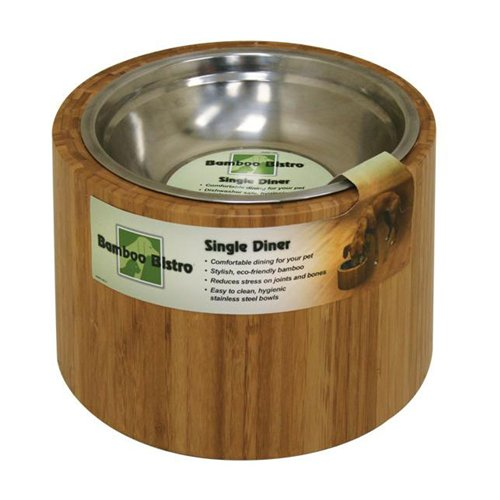 OurPets Bamboo 1.5-quart Dog Feeder