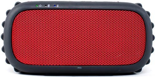 Grace Digital Ecoxgear Gdi-egrx607 Ecorox Rugged And Waterproof Wireless Bluetooth Speaker - Red