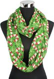 Vivian & Vincent Soft Light Weight Christmas Candy Cane Sheer Infinity