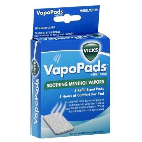Vicks Soothing Menthol Vapors, 5 refill pads