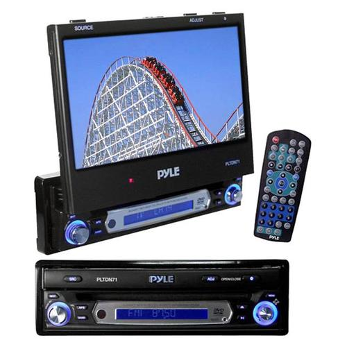 Pyle View PLTDN71 Car Video Player - 7 Active Matrix TFT LCD - NTSC, PAL - 16:9 - DVD-R, CD-R - DVD Video, Video CD, MP3 - 240W - AM, FM, TV