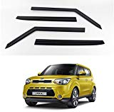 KD KIA SOUL Smoke Window Vent Sun Visors Rain Guards 2014 - 2017 Out channel Visor