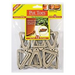 GARDENRITE 12 Pack Light Grey Pot Toes