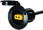 """""""Cannon Flush Mount Power Port - Black Brand New Includes One Year Warranty, Product # 1903012 (Black), 1903013 (White) The Cannon Flush Mount Power Port features watertight cover and gasket which allows full protection for the plug from the corrosion when not in use"""