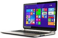 Toshiba Satellite Psprdu-01h003 S55t-b5335 Laptop Pc - Intel Core I5-4200h 2.8 Ghz Dual-core Processor - 8 Gb Ddr3l Sdram - 1 Tb Hard Drive - 15.6-inch Touchscreen Display - Windows 8 64-bit - Brushed Aluminum Finish In Satin Gold