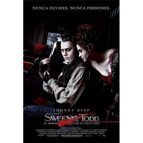 Sweeney Todd: The Demon Barber of Fleet Street Poster Movie Argentine 11 x 17 In - 28cm x 44cm Johnny Depp Helena Bonham Carter Alan Rickman Sacha Baron Cohen Jayne Wisener