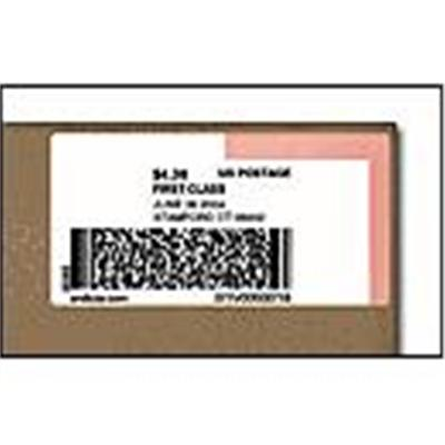 Dymo 30384 2-part Internet Postage - Black On White - 2.25 In X 7.5 In 150 Label(s) (1 Roll(s) X 150) Labels - For  Desktop Mailing Solution Twin Turbo Labelwri