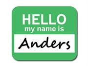 Anders Hello My Name Is Mousepad Mouse Pad