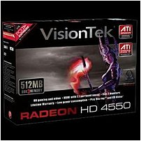 Save time and energy with the VisionTek Productivity Series ATI Radeon HD 4550 graphics cards which provide optimal performance, break through efficiency and stability