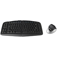 Goldtouch V2 Adjustable Keyboard & Comfort Mouse Bundle - Usb Cable Keyboard - Usb Wireless Bluetooth Mouse - Optical - 1000 Dpi - 3 Button - Scroll Wheel - Right-handed Only (pc, Unix) Gtf-krh-b