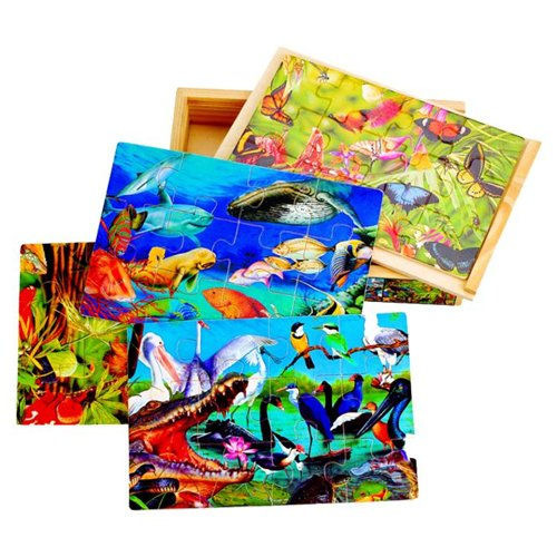 Puzzled Puzzle Box - Animals Wooden Toys