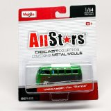 Volkswagen Samba Van (Green) * All Stars Series 14 * 2014 Maisto 1:64 Scale Die-Cast Collection