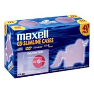 Maxell 190074 Cd 365 - Storage Cd Slim Jewel Case (pack Of 40)