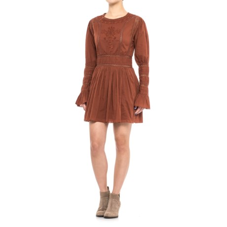 Free People Victorian Waisted Mini Dress - Long Sleeve (for Women)