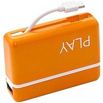 Ideausa Playpower Bp-33o Portable Power Bank - 5200 Mah - Orange
