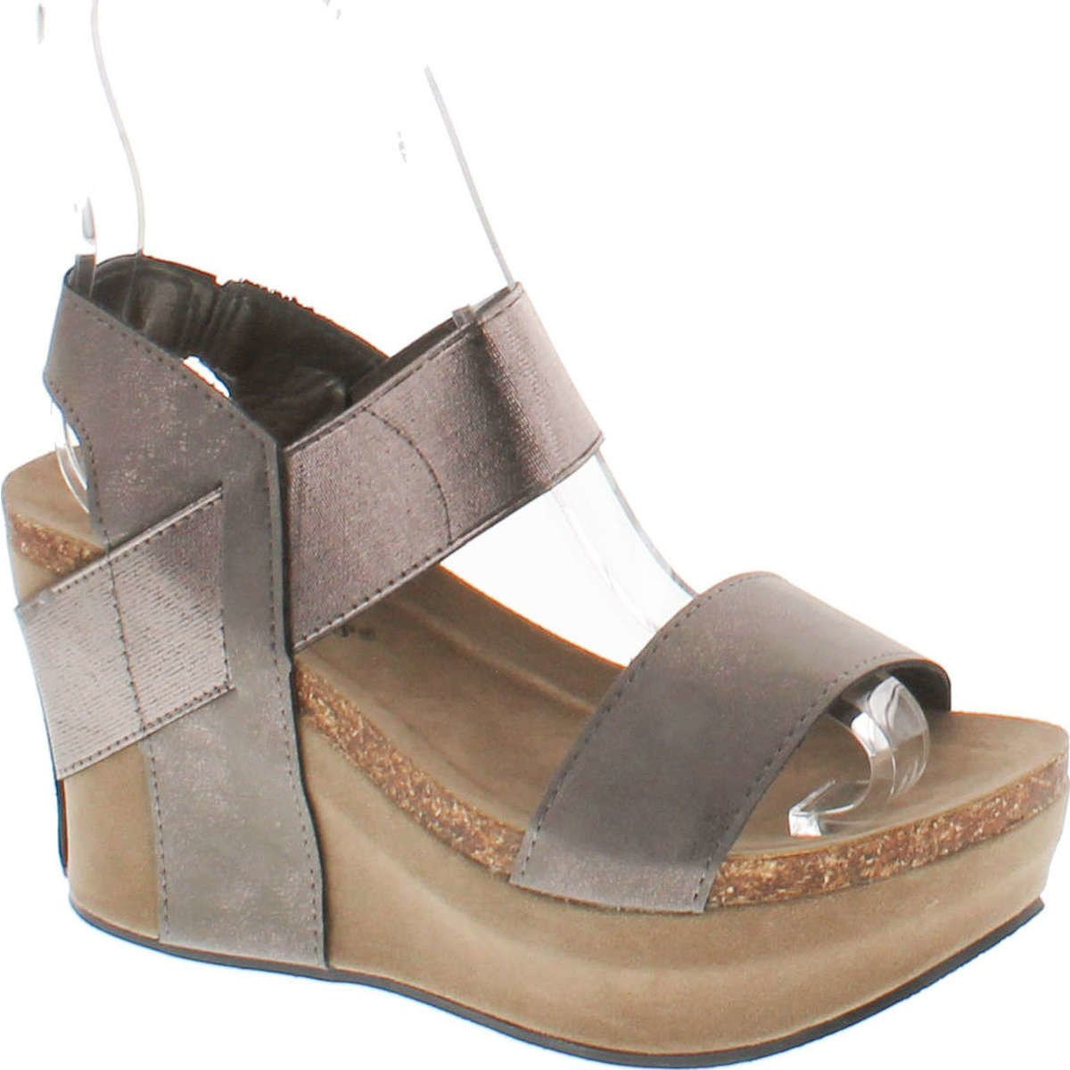 Women's Hester-1 Wedge Sandals, Pewter,6