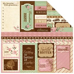 Cherish Double-Sided Cardstock 12 X12 -Enhancements Cut-Apart Images & Words