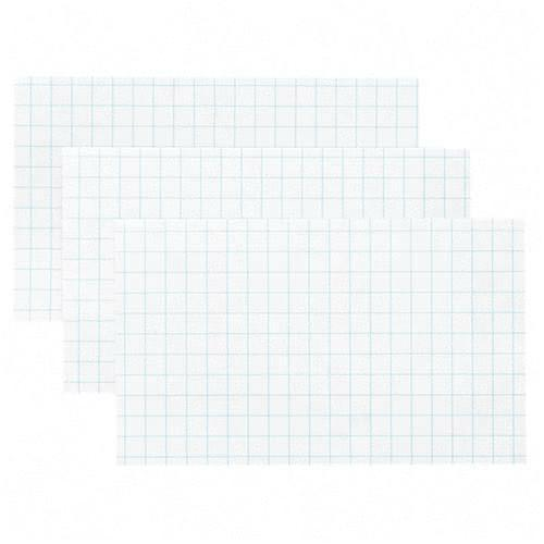 Esselte Grid Index Card - 3 x 5 - 90lb - 100 / Pack - White