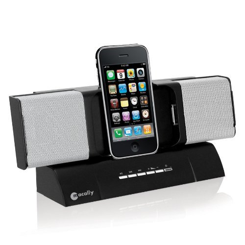 Macally Flexible Stereo Speaker for iPhone/iPod Black AmpTune