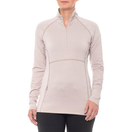 Mont Blanc Base Layer Top - Zip Neck, Long Sleeve (for Women)