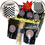 cgb_154527_1 InspirationzStore patterns - Check black and white pattern - checkered checked squares chess checkerboard or racing car race flag - Coffee Gift Baskets - Coffee Gift Basket