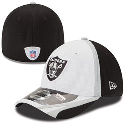 Oakland Raiders New Era 39THIRTY 2014 Official Training Flex Fit Hat - White