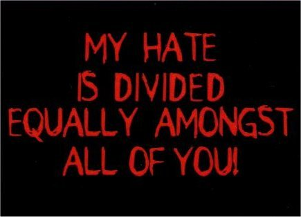 My Hate Is Divided Equally Amongst All Magnet DM2120