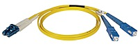 Tripp Lite N366 03M 10 Feet Duplex Singlemode 8.3 125 Fiber Optic Patch Cable is made from 8.3 125 zipcord fiber