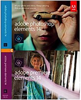 Adobe 65263930 Photoshop Elements 14 And Premiere Elements 14 Retail Software - Standard Edition - Windows And Mac Os X