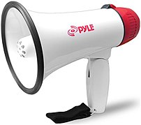 Pyle Pro Pmp37led Megaphone With Siren/talk/led Light - White/red